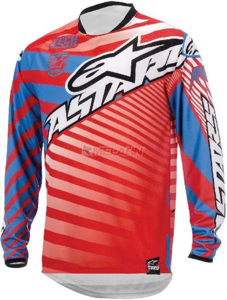 ALPINESTARS Hemd: Racer, rot/blau