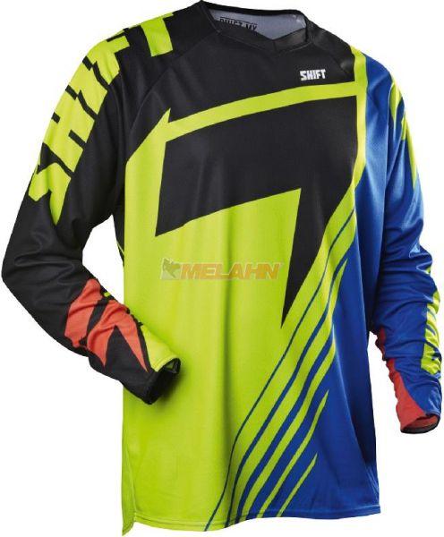 SHIFT Hemd: Faction LE Chad Reed, gelb/blau/schwarz, Gr.L