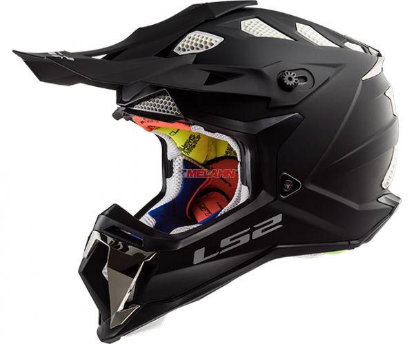 LS2 Helm: Subverter MX 470, Single Moto, matt schwarz