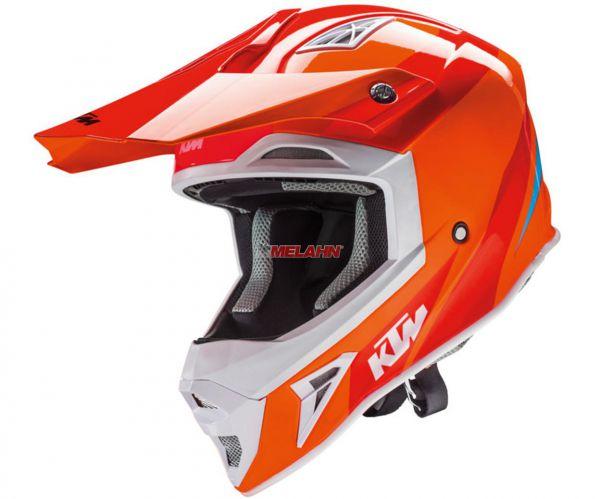 KTM Helm: Comp Light, orange/weiß/schwarz