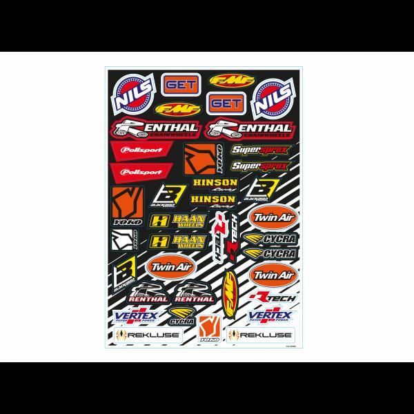 BLACKBIRD Aufkleber-Kit: Logos D, 39-teilig-Copy