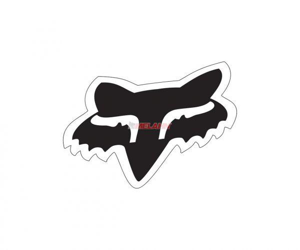 FOX Aufkleber: Head 10 cm, schwarz