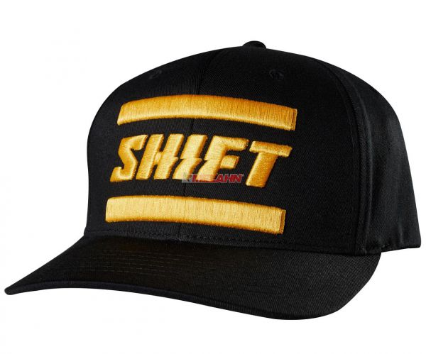 SHIFT Flex-Fit Cap: 3Lack Label, schwarz