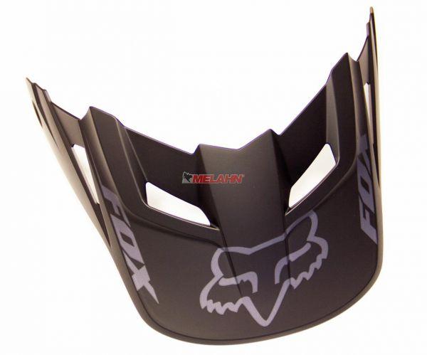 FOX Helmschirm: V1 Visor (ab 2013), matt-schwarz