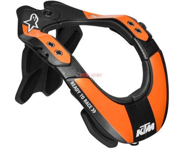 KTM Neckbrace: ALPINESTARS BNS (Bionic Neck Support) Tech-2, schwarz/orange