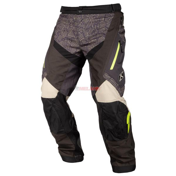 KLIM Hose: Dakar, Over-The-Boot, schwarz/sand/lime