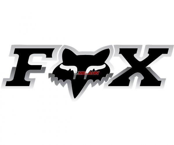 FOX Aufkleber: Corporate 18 cm, chrom
