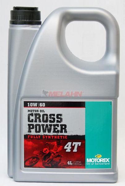MOTOREX Cross Power 4T 4l, 10W-60 vollsynthetisch