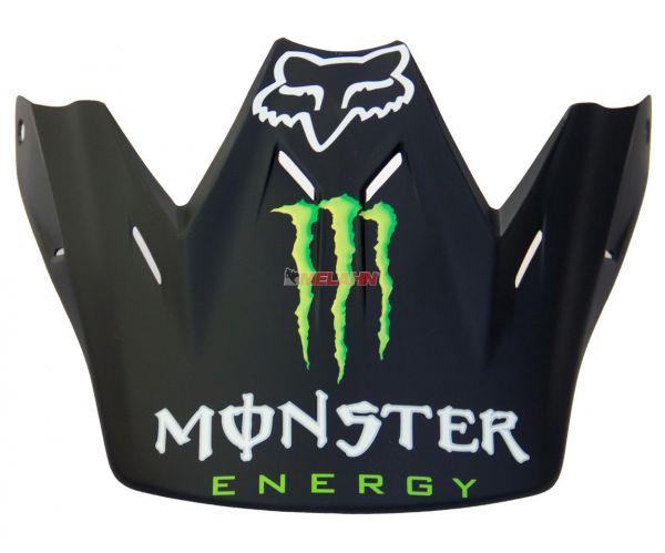 FOX Helmschirm: Visor V3 Monster 2011, matt-schwarz
