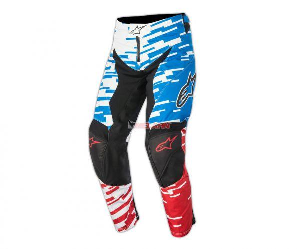 ALPINESTARS Hose: Racer Braap, blau/rot/weiß