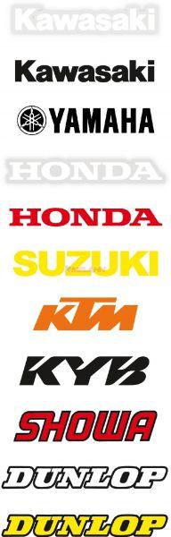 FX Aufkleber für Gabel oder Schwinge (Paar), Kawasaki weiß