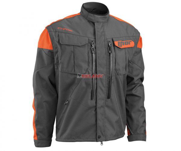 THOR Jacke: Phase, grau/orange