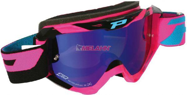 PROGRIP Brille: 3450 Fluo Multilayered, verspiegelt, pink
