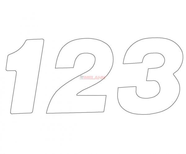 MT Supercross-Zahlen 20cm einzeln, weiß