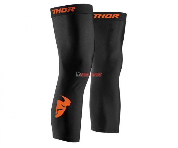 THOR Knee Brace Stulpe (Paar), schwarz/orange
