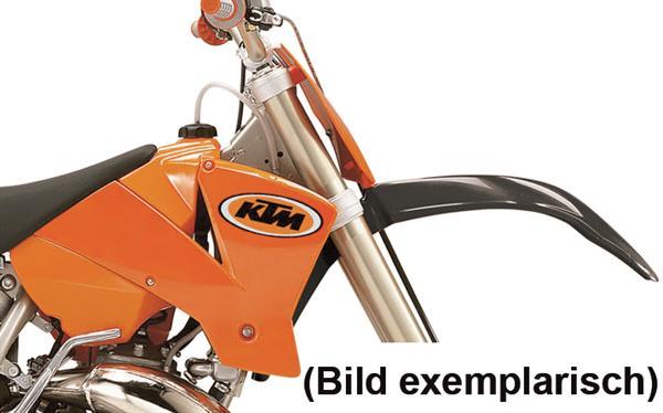 KTM Spoiler SX/EXC 125-525 03-04, rechts, orange mit Dekor 03