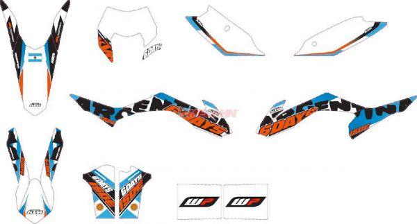 KTM Dekor-Kit Six Days Argentinien 2014, EXC 14-15