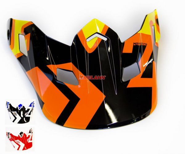 FOX Helmschirm: V2 Visor (2014) Anthem, rot