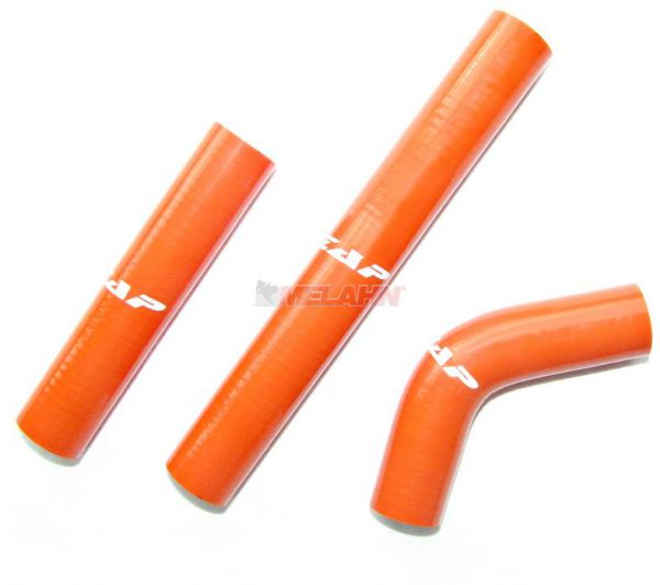 ZAP Kühlerschlauch-Set KTM 250/300 EXC 08-11, orange