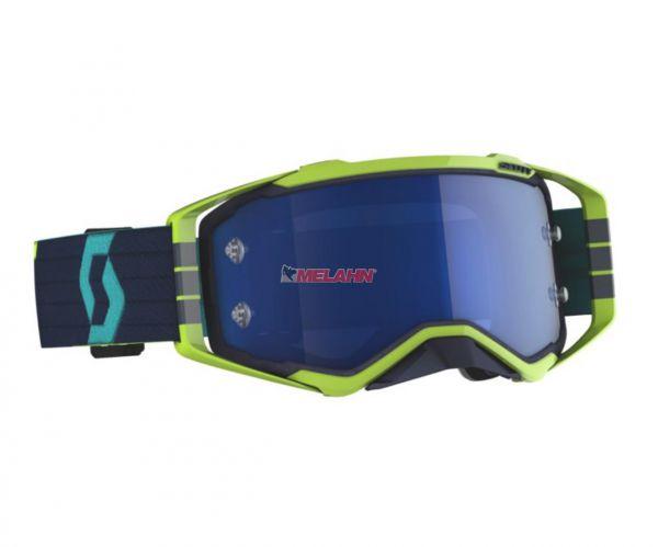SCOTT Prospect Goggle Motocross MTB MX Enduro Cross Brille blau/-neongelm electricblue verspiegelt