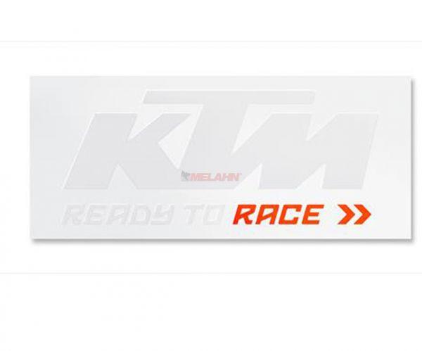 KTM Folien-Aufkleber Bus: Logo 115x46cm, weiß/orange