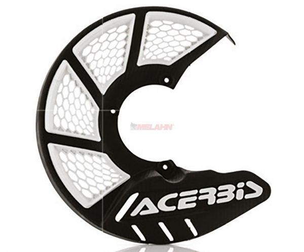 ACERBIS Kunststoff-Bremsscheibenschutz vorne: X-Brake 2.0 KTM/HVA 85, schwarz/weiß