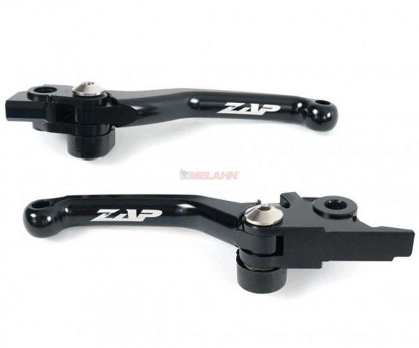 ZAP Flex-Kupplungs-/Bremshebel-Set KTM/HUS/HVA(Brembo) 14-, schwarz