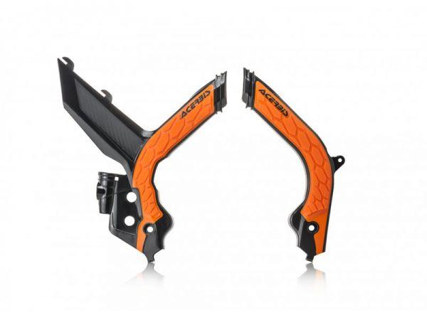 ACERBIS Rahmenschützer (Paar): X-Grip KTM EXC 2020-, schwarz/orange