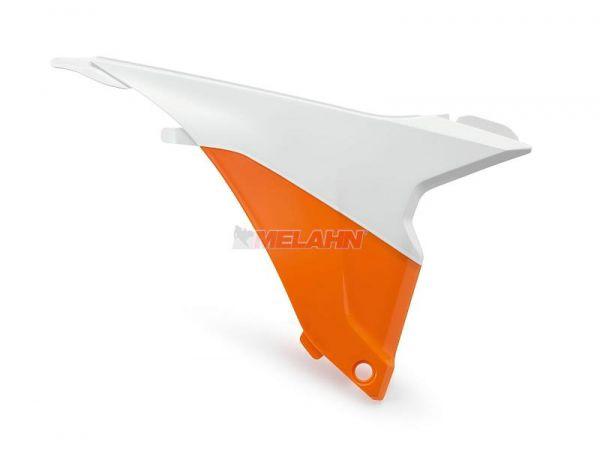 KTM Filterkastenwand rechts, weiß/orange, EXC 14-16