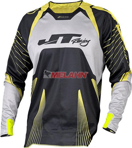 JT-RACING Hemd: Protek Subframe, schwarz/gelb