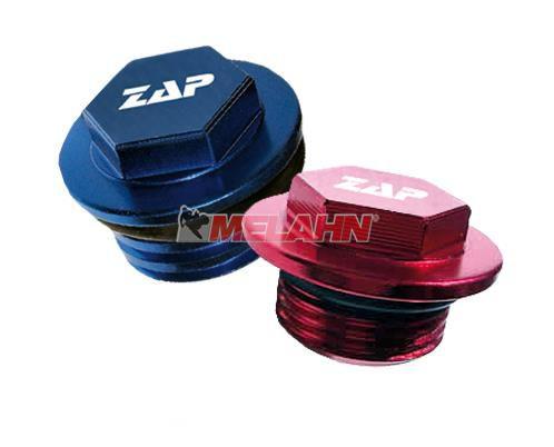 ZAP Aluminium-Öleinfüllschraube CR/CRF 450 02-16, blau