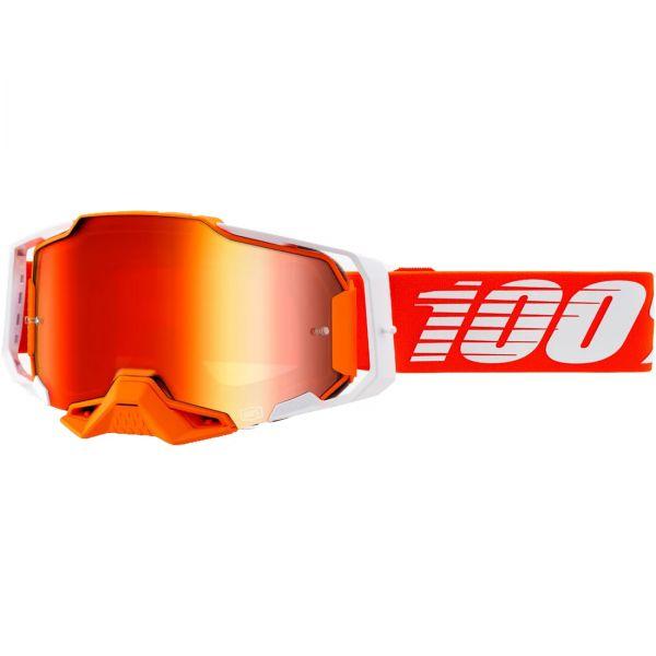 100% Brille: Armega Regal, orange/weiß