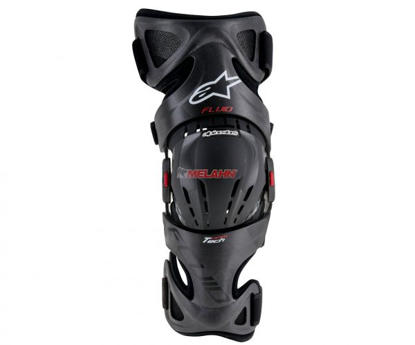 ALPINESTARS Knee-Brace (Paar): Fluid Tech Carbon, schwarz