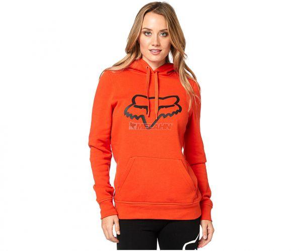 FOX Girls Hoody: Centered, orange
