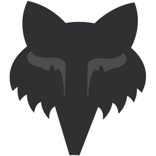 FOX Aufkleber: Legacy Head 9cm, matt-schwarz