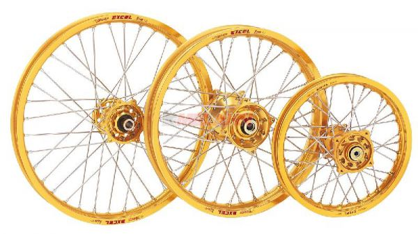 EXCEL Komplett-Rad 2,50x18 Zoll, gold