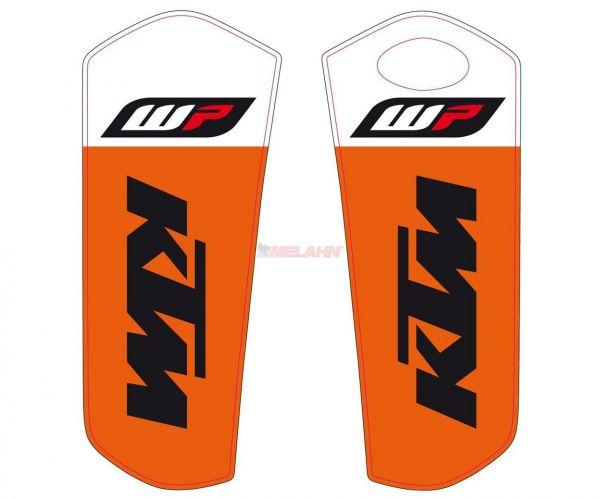KTM Gabelschutz-Aufkleber (Paar) WP/KTM ws/orange, 15-