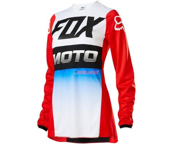 FOX Girls Jersey: 180 FYCE, blau/rot/weiß