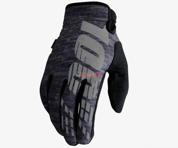 100% Handschuh: Brisker, Neopren, grau