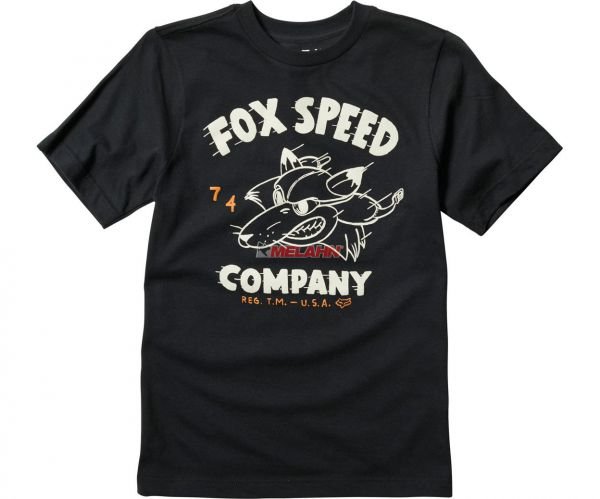 FOX Youth T-Shirt: Bomber, schwarz