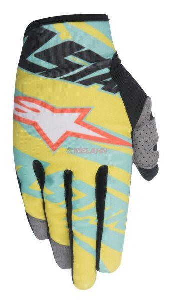 ALPINESTARS Handschuh: Techstar Eli Tomac Limited Edition, schwarz/gelb/türkis