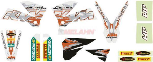KTM Graphic Kit SX/EXC 05-07, 12-teilig, weiß