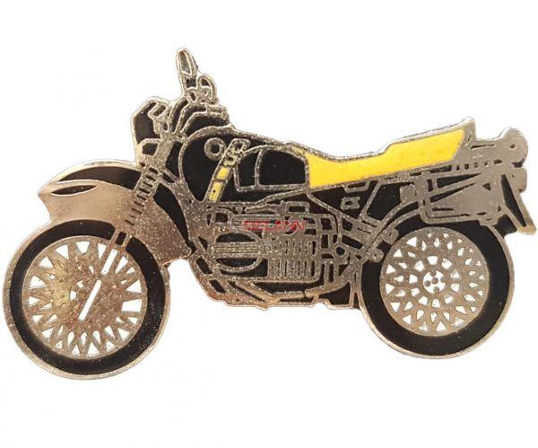 Pin BMW schwarz/gelb, R 80/100 GS