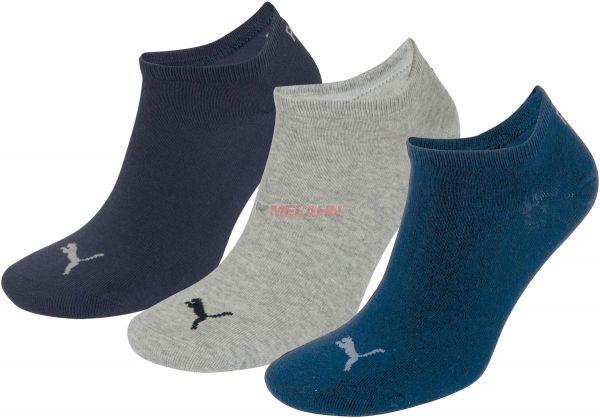 PUMA Socke (3er Pack): Unisex Invisible Sneakers, navy/grau/blau