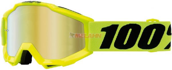 100% Kids Brille: Accuri Fluo yellow, neon-gelb