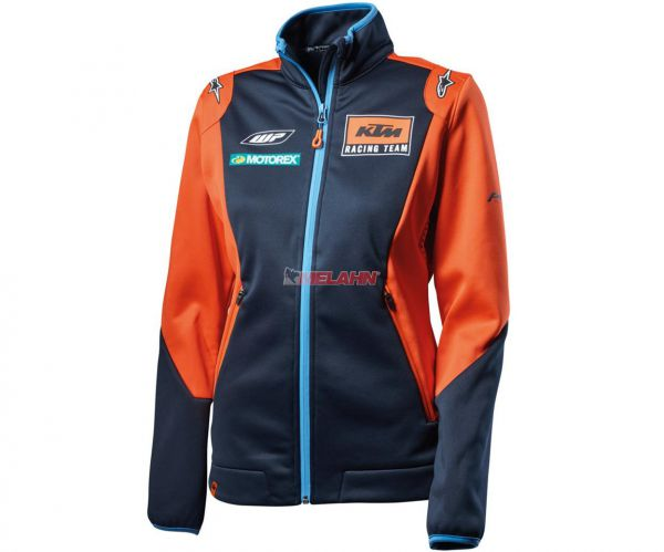 KTM Girls-Softshelljacke: Team Replica, blau/orange