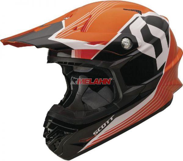 SCOTT Helm: 350 Pro Slipstream, orange/schwarz