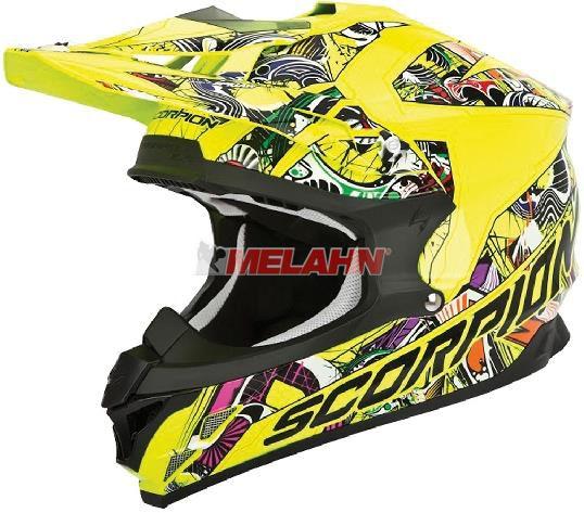 SCORPION Helm: VX-15 Evo Air Vector, neon-gelb