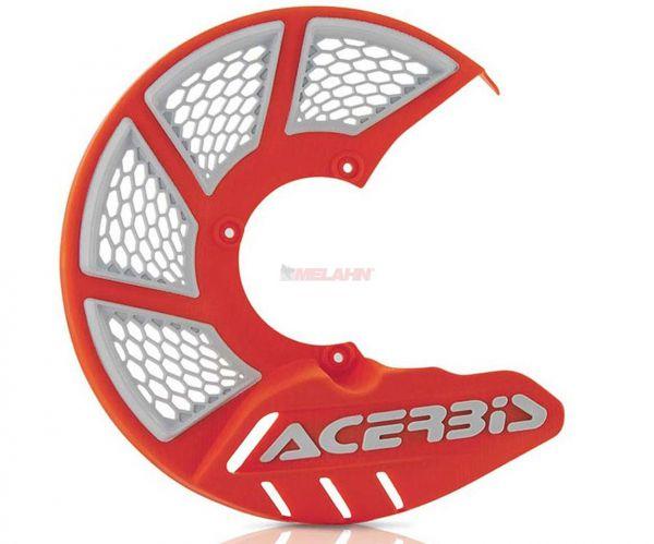 ACERBIS Kunststoff-Bremsscheibenschutz vorne: X-Brake 2.0, orange 2016/weiß
