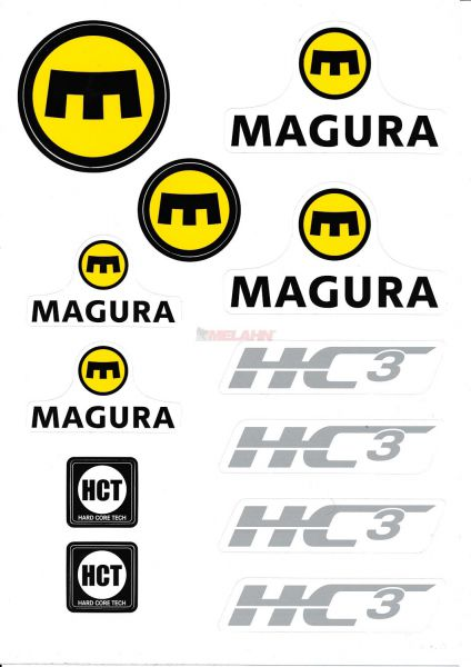 MAGURA Aufkleber-Kit HC3, 12-teilig